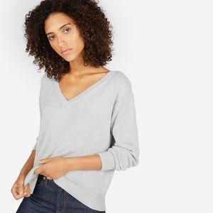 NWT Everlane The Soft Cotton V-neck Gray Size XXS